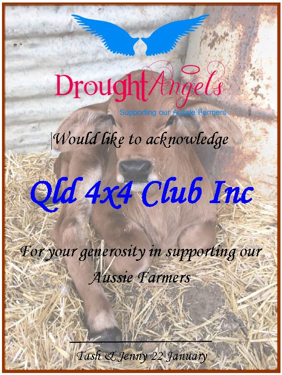 Drought Angels Certificate of Appreciation 2020