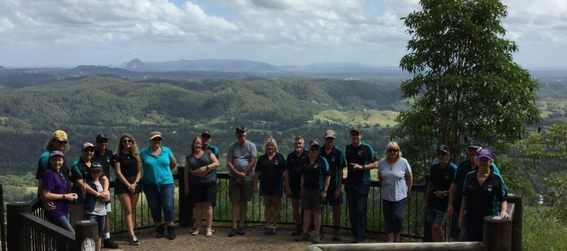 QLD 4x4 Club Members enjoying the view